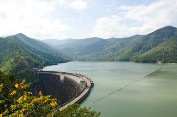 Dam Of Hydroelectric Power Station And Irrigation.