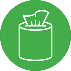 Wet Wipe Disinfectant Outline Icon