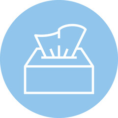 Box Of Tissues Outline Icon