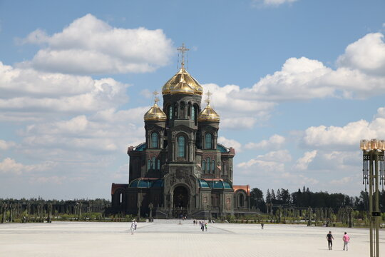 Main temple of the Russian Armed Forces in the Park Patriot in Kubinka, Moscow Region, Russia