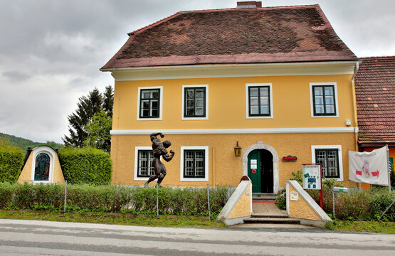 THAL, AUSTRIA - MAY 3: Arnold Schwarzenegger Museum on May 3, 2014 in Thal, Austria. The Museum opened near Graz in 2011 on the birthplace of the actor.
