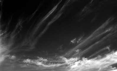 Clouds and sky on black and white. Fototapete
