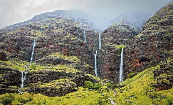 Cascades of Makaha Valley
