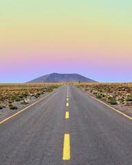 Photo sur Plexiglas Amérique du Sud Road Amidst Landscape Against Sky