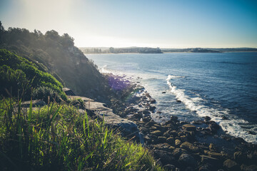 Canvas Prints Sydney Manly Beach coastal cliffs, Sydney, Australia