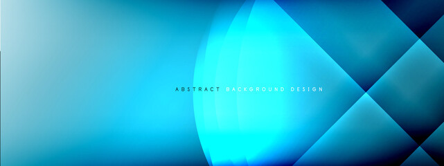 Vector abstract background - circle and cross on fluid gradient with shadows and light effects. Techno or business shiny design templates for text Wall mural