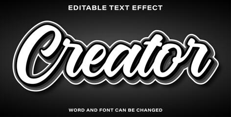 Wall Mural - creator text effect