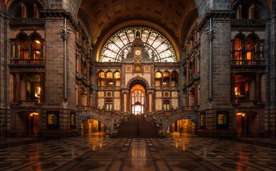 Antwerp Central Railway Station Hallway