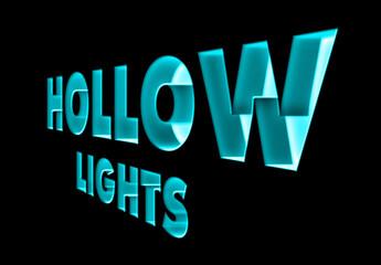 Hollow Lights Text Effect