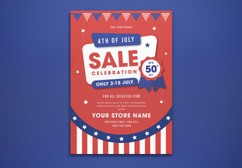 4th of July Sale Flyer Layout