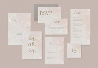 Floral Wedding Invitation Set