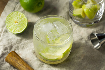 Refreshing Cold Caipirinha Cocktail with Cachaca