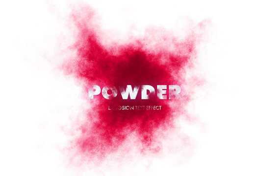 Powder Explosion Text Effect