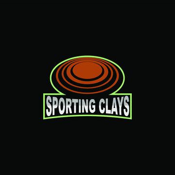 sporting clay vector emblem logo design