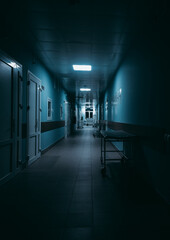 Fototapeta Empty Corridor In Hospital obraz
