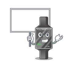 Wall Mural - sweet Mascot design of smart watch bring a board