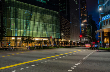 Empty street in Singapore