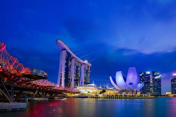 Nightscape of Singapore Marina Bay Sand Singapore