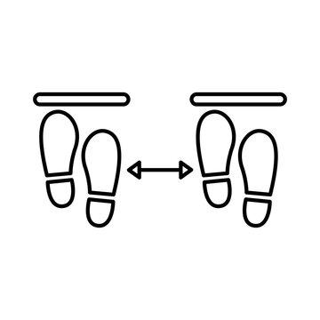steps prints social distance line style