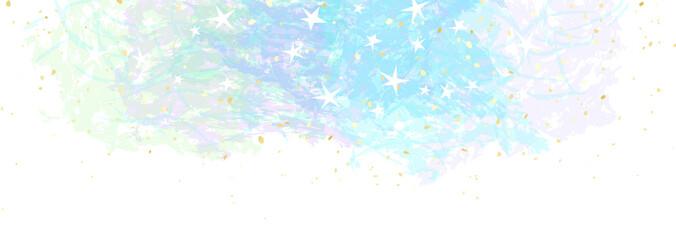 Photo sur Plexiglas Blanc やさしい色の星空のフレーム