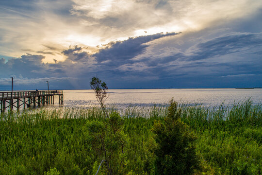 Cloudy Day At Mobile Bay