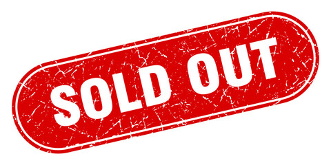 sold out sign. sold out grunge red stamp. Label