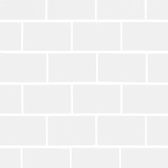 White light seamless brick tiles wall texture background square