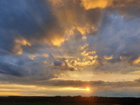 Hessischer Sonnenuntergang