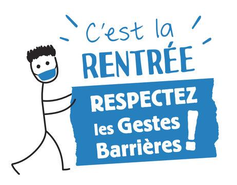 école, rentrée scolaire, respectez les gestes barrières !