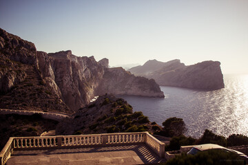 Scenic View Of Sea And Mountains Against Clear Sky, Cap Formentor, Mallorca