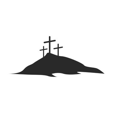 The icon of Calvary. symbol. Simple element vector illustration on a white background.