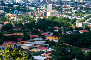 Obraz High Angle View Of Buildings In City - fototapety do salonu