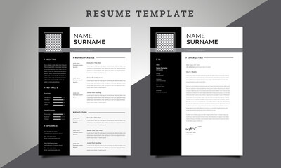 Clean Resume / CV Template with Cover Letter Design