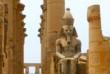 Statue of Ramses II at Luxor Temple, Luxor, Egypt