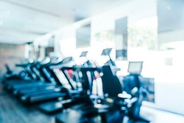 Foto auf Acrylglas Fitness Defocused Image Of Gym