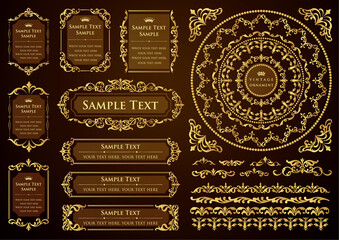 set of vintage design elements for design
