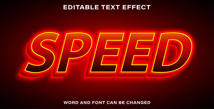 Editable text effect speed
