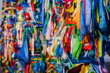Foto op Canvas Paradijsvogel Full Frame Shot Of Multi Colored Ribbons