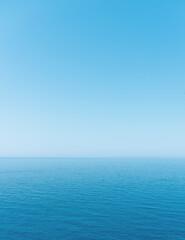 Minimalistic landscape, sea, sky and horizon