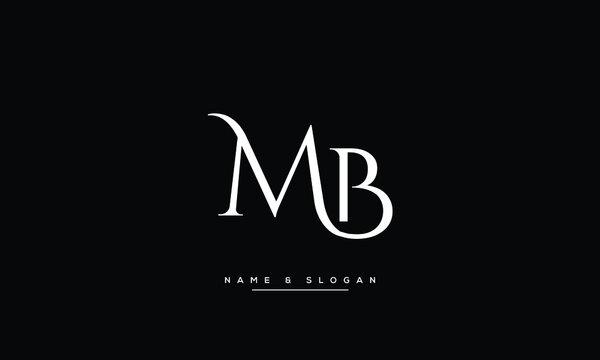 MB,BM ,M ,B Abstract Letters Logo Monogram