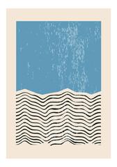 Obraz Minimal 20s geometric design poster, vector template with primitive shapes elements - fototapety do salonu