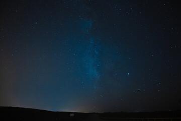 Foto auf Acrylglas Blaue Nacht Low Angle View Of Sky At Night