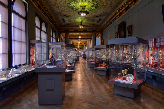 LONDON, ENGLAND - JULY 23, 2016: Victoria and Albert Museum, London. It was founded in 1852
