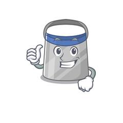 Wall Mural - Face shield cartoon character design showing OK finger