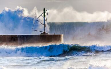Mer de forte houle, Saint-Gilles-les-Bains, île de la Réunion