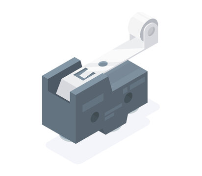 limit switch isometric industry vector