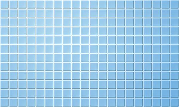 Blue bathroom or kitchen tile wall. Ceramic tiled floor or swimming pool
