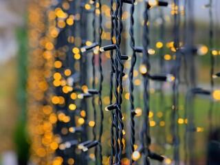 Fotomurales - Close-up Of String Lights