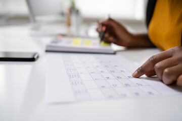 Fototapete - Agenda Meeting Plan Schedule