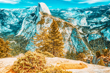 Magnificent national American natural park - Yosemite.